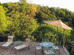 Terrace of Villa Gisette with stunning views