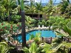 Pool setting in lovely gardens