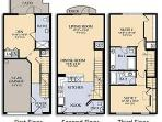 What a great lay out. The 3 floors make it perfect for time together and privacy as well.