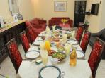 Family - Dining/Living room with our Home Made Israeli Country Breakfast