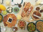 Our home-made Israeli Country Breakfast