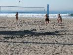 Volleyball on three miles of sunny beach