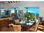 One of the dining areas overlooking the East End and the BVI\'s
