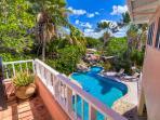 Enjoy overlooking the pool.