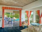 Easy access to the pool from the master suite.
