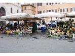 Campo dei Fior flower market.next to the apartment
