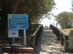 Beach boardwalk pathway nearby the unit