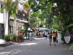 Early morning on 5th Avenue in Playa Del Carmen