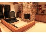 TV Room With Real Pit & Big Screen