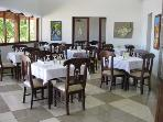 Large dining room in clubhouse restaurant