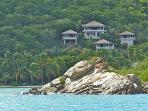 Dos Sols Villa from the water/Clarke Rock