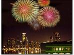 Fireworks over Navy Pier.   You can see these from our deck