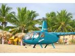 Catch a Helicopter in Front of Villa Leone on the Beach!