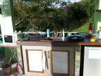 outside terrace kitchen area