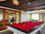 Villa has pool table, table tennis table and foosball table