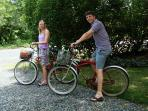 Take the complimentary bikes and explore the island!