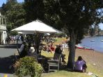 Histortic Russell village, restaurants, attractions and boat trips 2 minutes away