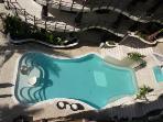 overhead shot of pool