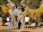 Kids will love the Rocks and Ropes course 3 minutes walk to the northeast!