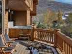 Private Patio Features a Hot Tub