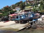 DOWNTOWN: Fishing boats and pousadas