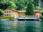 View of Lake Como Beach Resort from the water