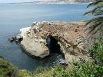 The Cave at Goldfish Point, short walk from The Casita