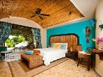 Guest room with ocean and beach views