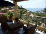 Villa Abela Balcony with view to the beach
