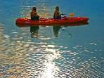kayaking in bay