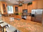 Beautiful Open Granite Kitchen w/Counter Dining
