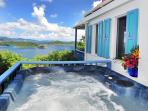 Sago Cottage: Romantic, private, spa. fantastic view