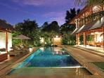 The Villa Windu Sari pool area by Windu Villas