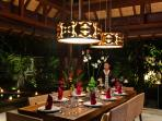 Dining at Villa Windu Sari by Windu Villas
