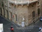 View of the famous Pasquino statue from living room window.