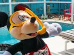 Swim with Mickey! The kids will love the 3D dolphin mosaic in the pool
