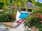 View of Caribe Main House from Bali #2 Suite. You always have exclusive use of the whole villa.