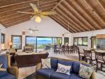 The open floor plan and 16 foot sliders bring the views of the SEA into every corner of the room!