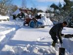 Clearing the snow from our drive Dec 2010