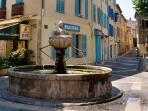 Central town fountain is less than 30 meters from the property