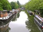 The Little Venice Canal - a 10 minute walk