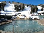 Ski Lifts behind Heated Pool. 8% Resort - Guest use fee gives guest access to amenities