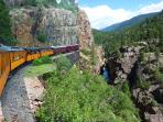 Durango Silverton Railroad, Incredible Views (We pefer the Outside Cars in Summer & fall)