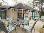 Deck with garden furniture