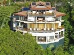 Helicopter view of Villa Perezoso