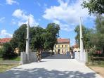 Nearby new bridge across Ljubljanica river