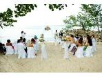Wedding setup on the beach1