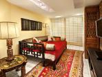 Royal living with shoji screen and double bed