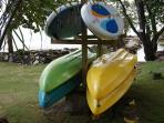 Four Malibu 2 Sea Kayaks and two Red Paddle 10'8 SUP paddle boards