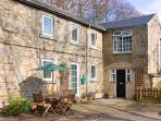 2 THE MEWS, pet-friendly, character holiday cottage, with an outdoor seating area in Middleton-In-Teesdale, Ref 909